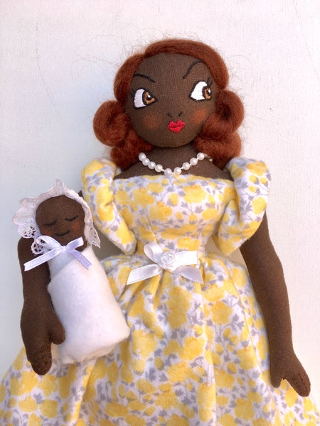 """Image of April with Baby Grace Doll 15"""""""