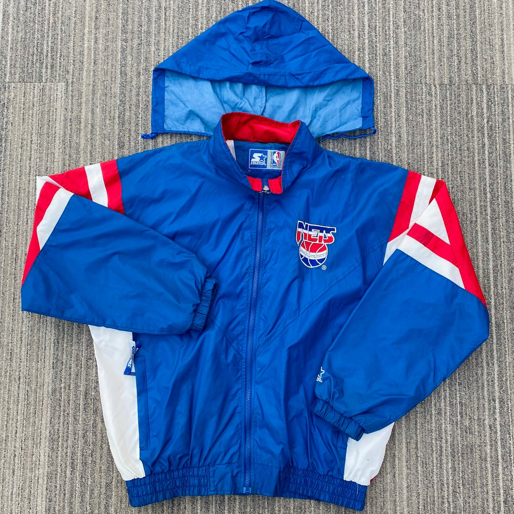 Image of Vintage New Jersey Nets Starter Windbreaker