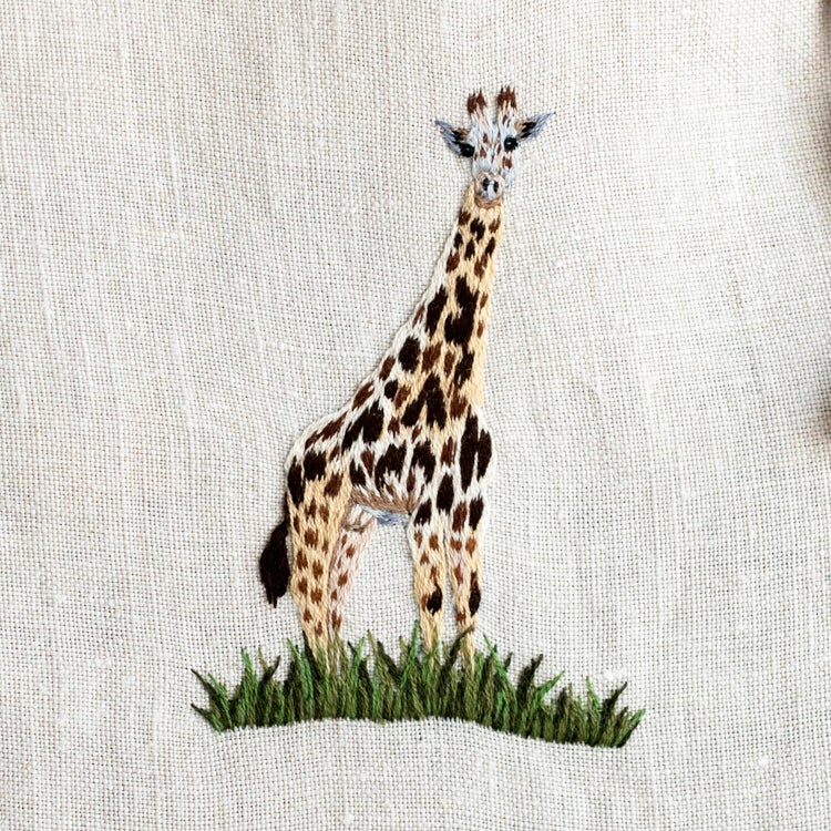 "Image of  trousse / pochon  ""Girafe"""