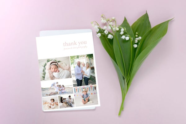 Image of Thank You Card Template, Folded Card