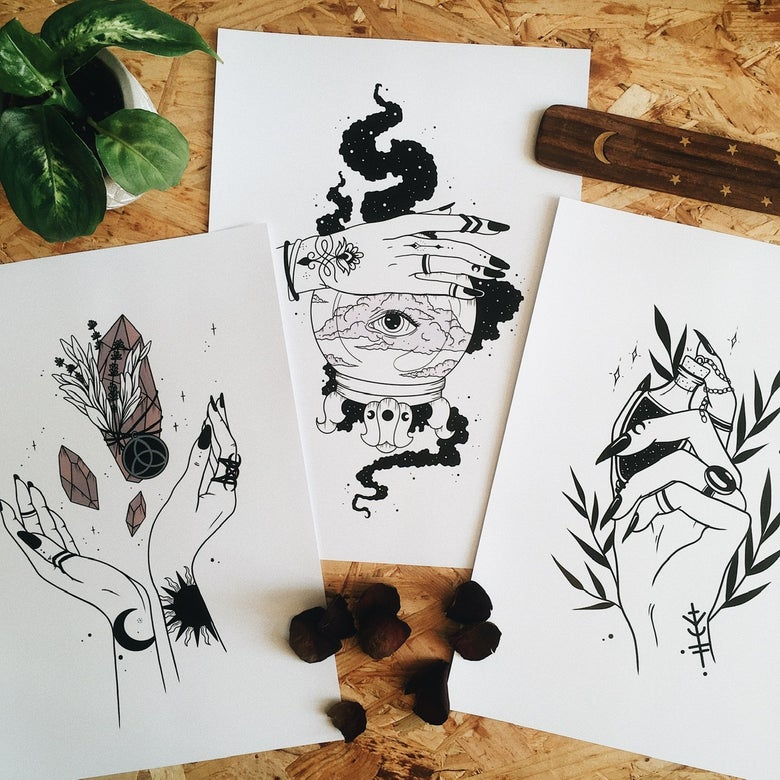 Image of Witchcraft Prints 2 (different motives)