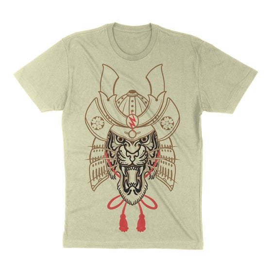 Image of Tiger Samurai - Unisex Tee Cream