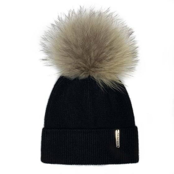Image of Black Angora Beanie