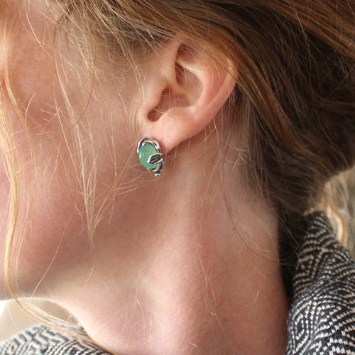 Image of Chrysoprase earrings - by Crystal Hartman