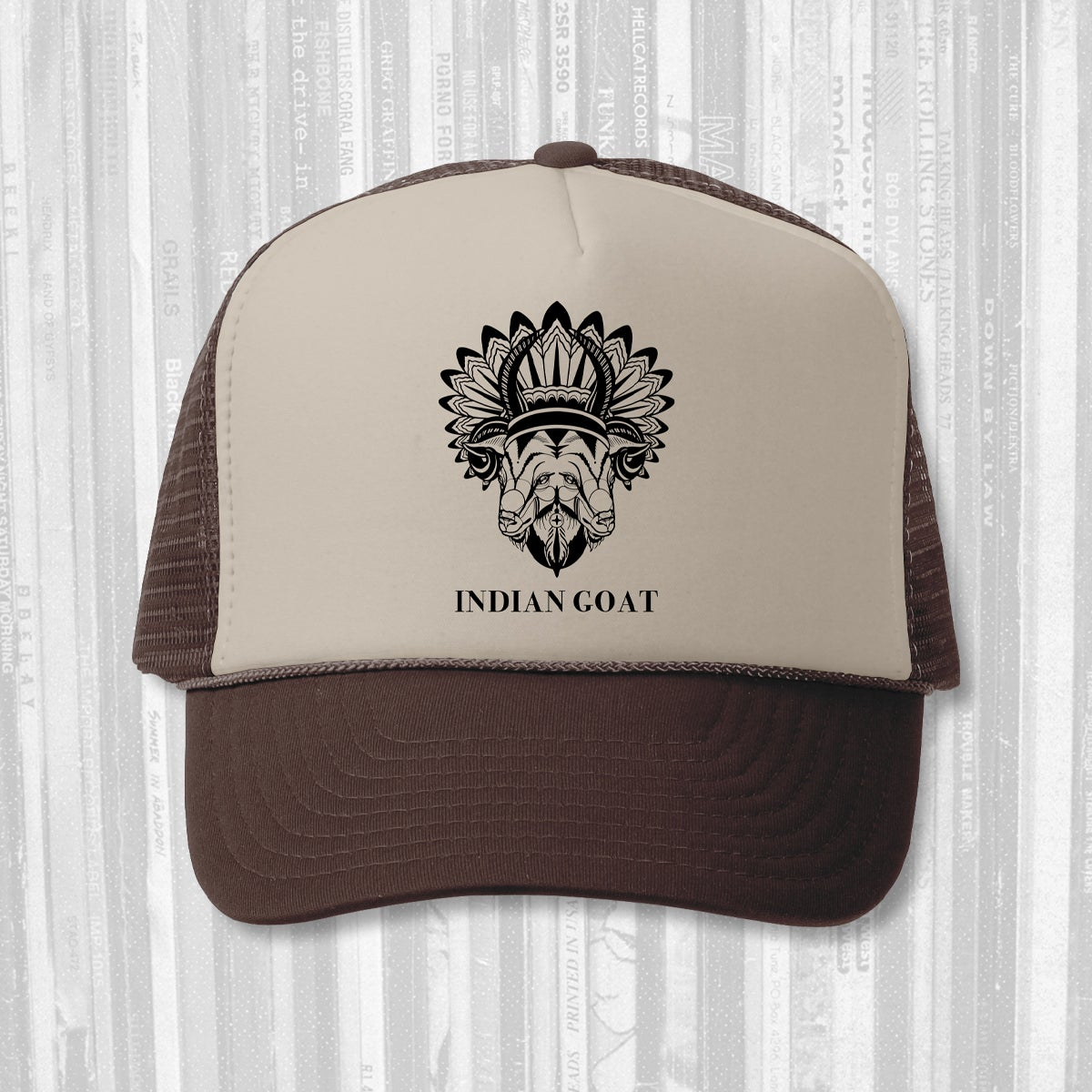 Indian Goat: Trucker Hat - Brown/Tan