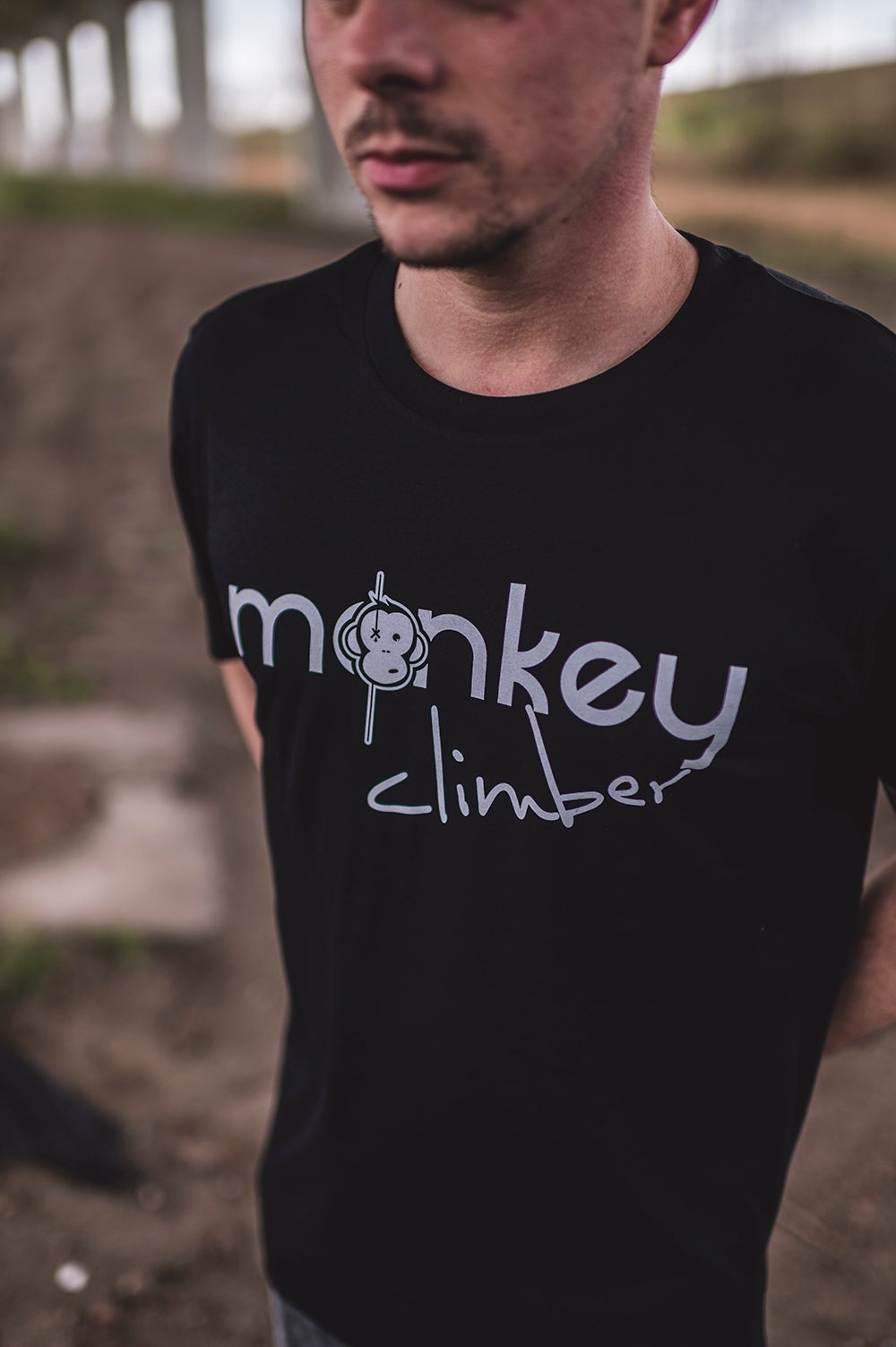Image of Monkey Climber Front Cover shirt I Black