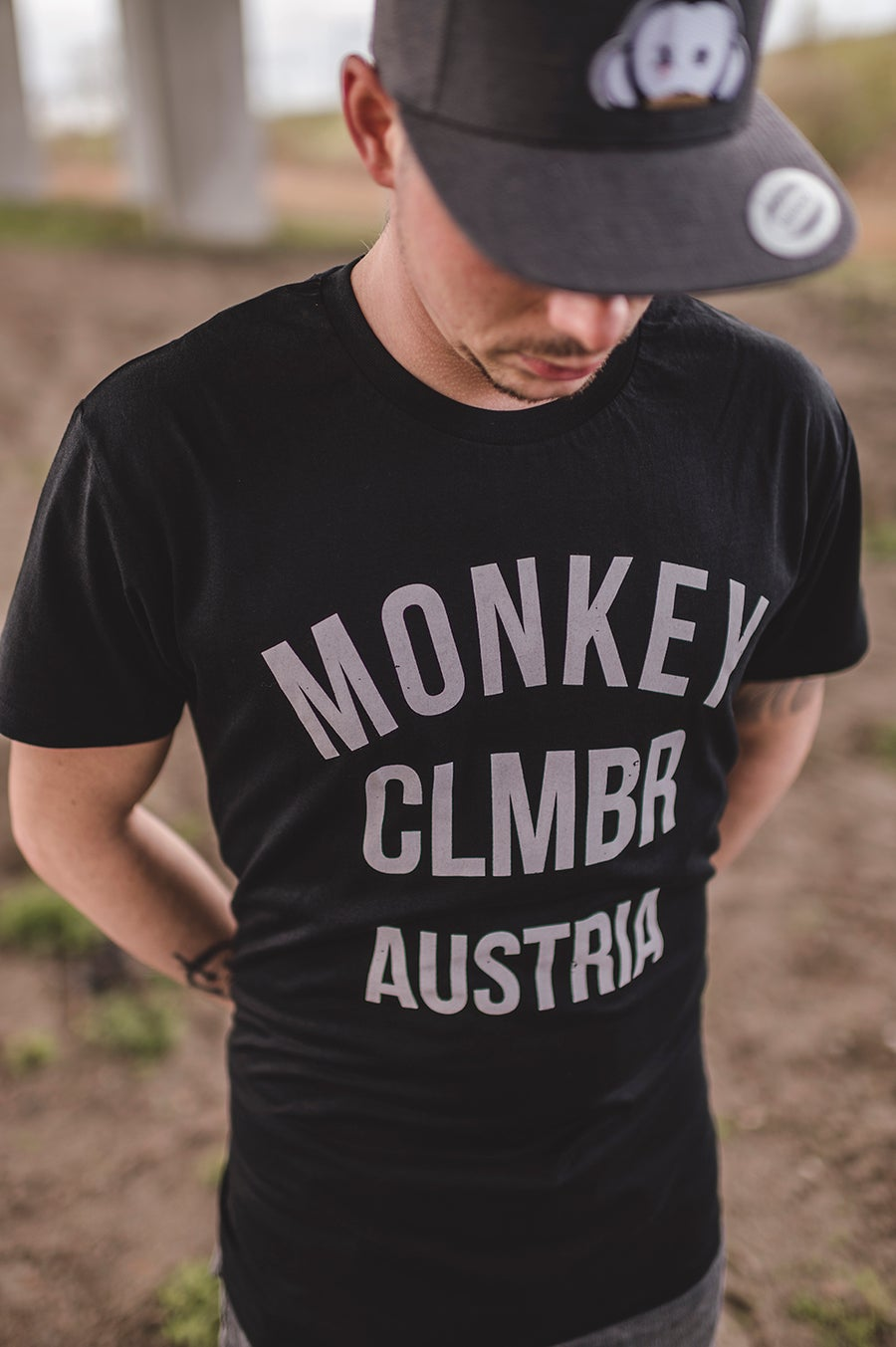 Image of Monkey Climber Ltd. Ed. AUSTRIA Ostend rip off shirt I Black