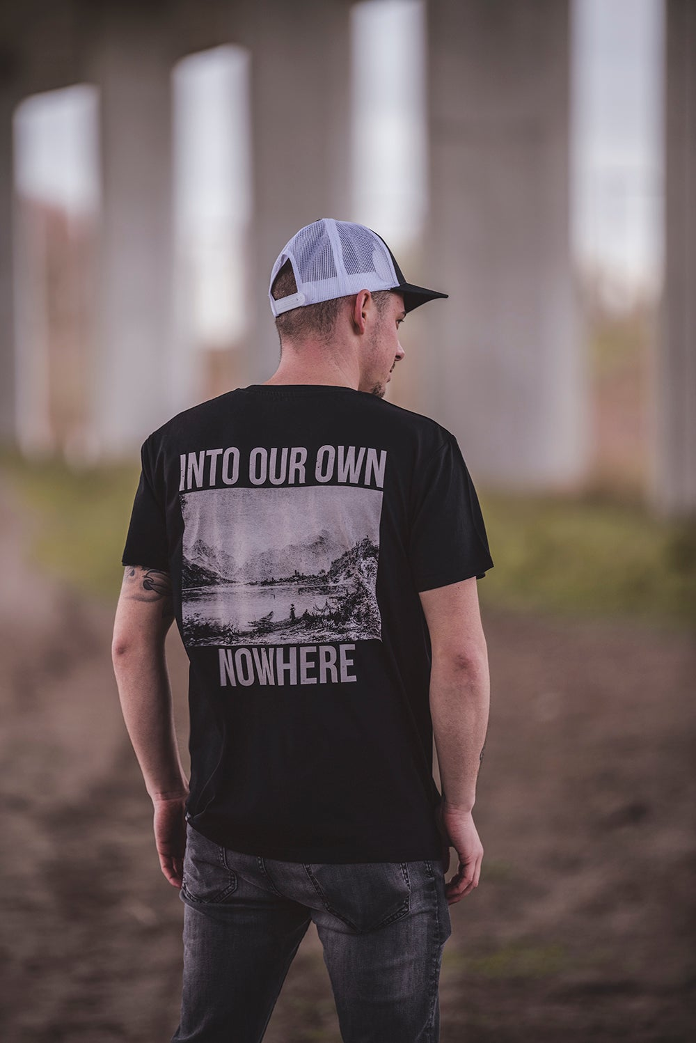 Image of Monkey Climber Ltd. Ed. AUSTRIA Into our own Nowhere shirt I Black
