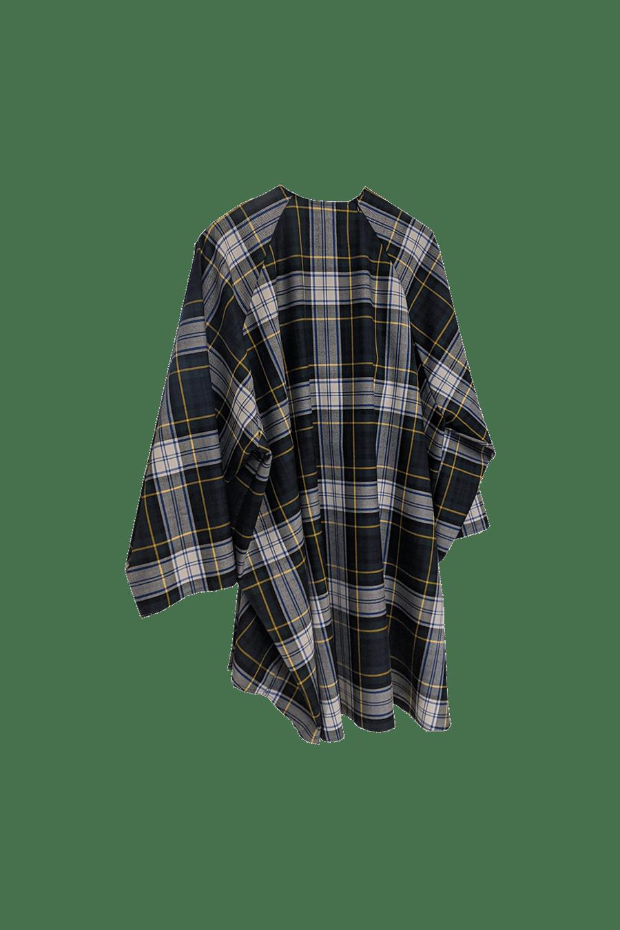 Image of Dress 1 - Wool - Green/yellow check