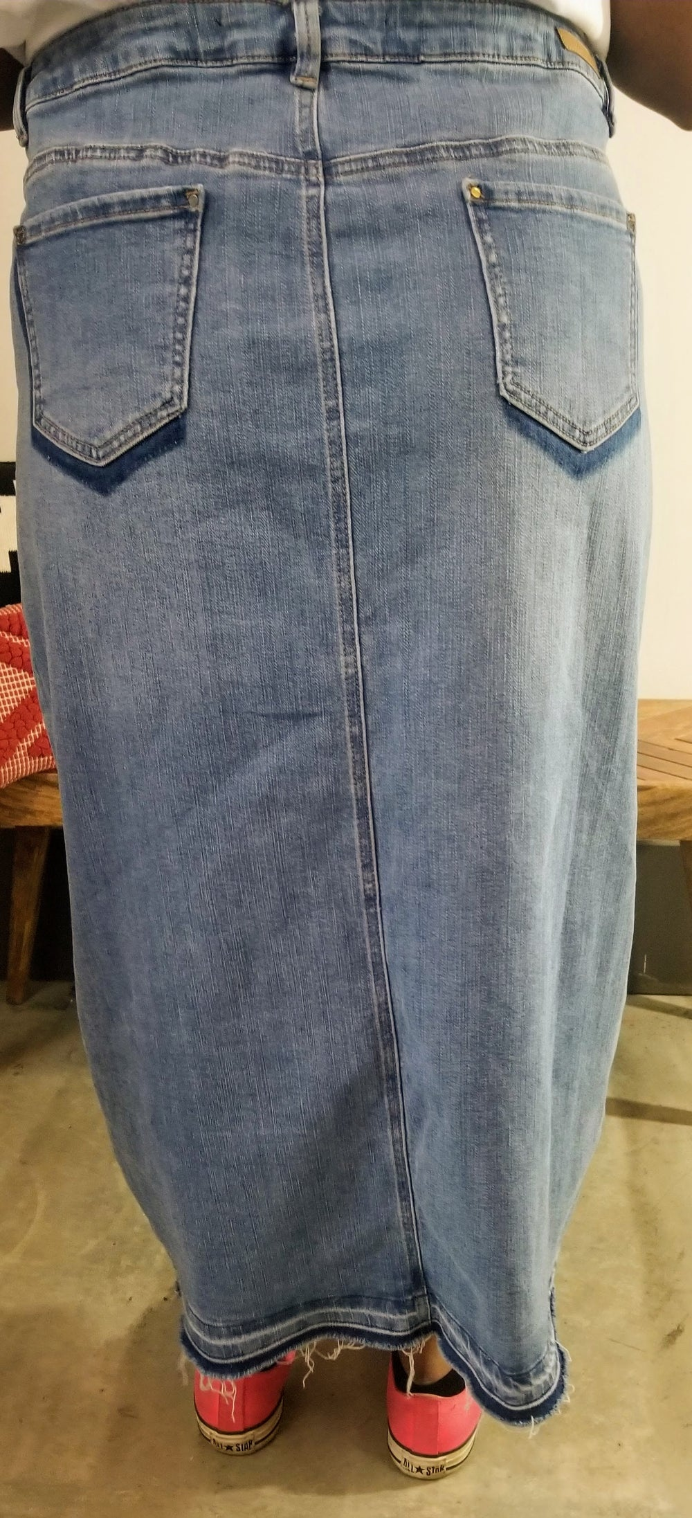 Image of Simply Be Split Front Denim Skirt Plus Size 20