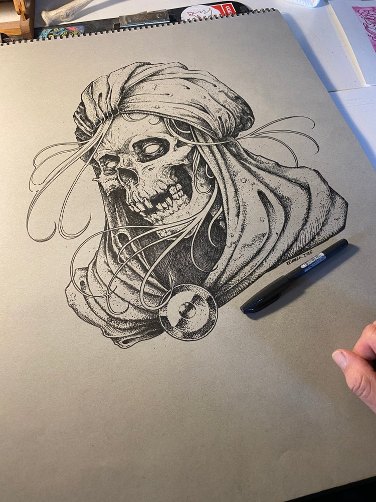Image of Reaper 18x24 Original