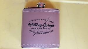 Image of Leather Whiskey Garage Flasks