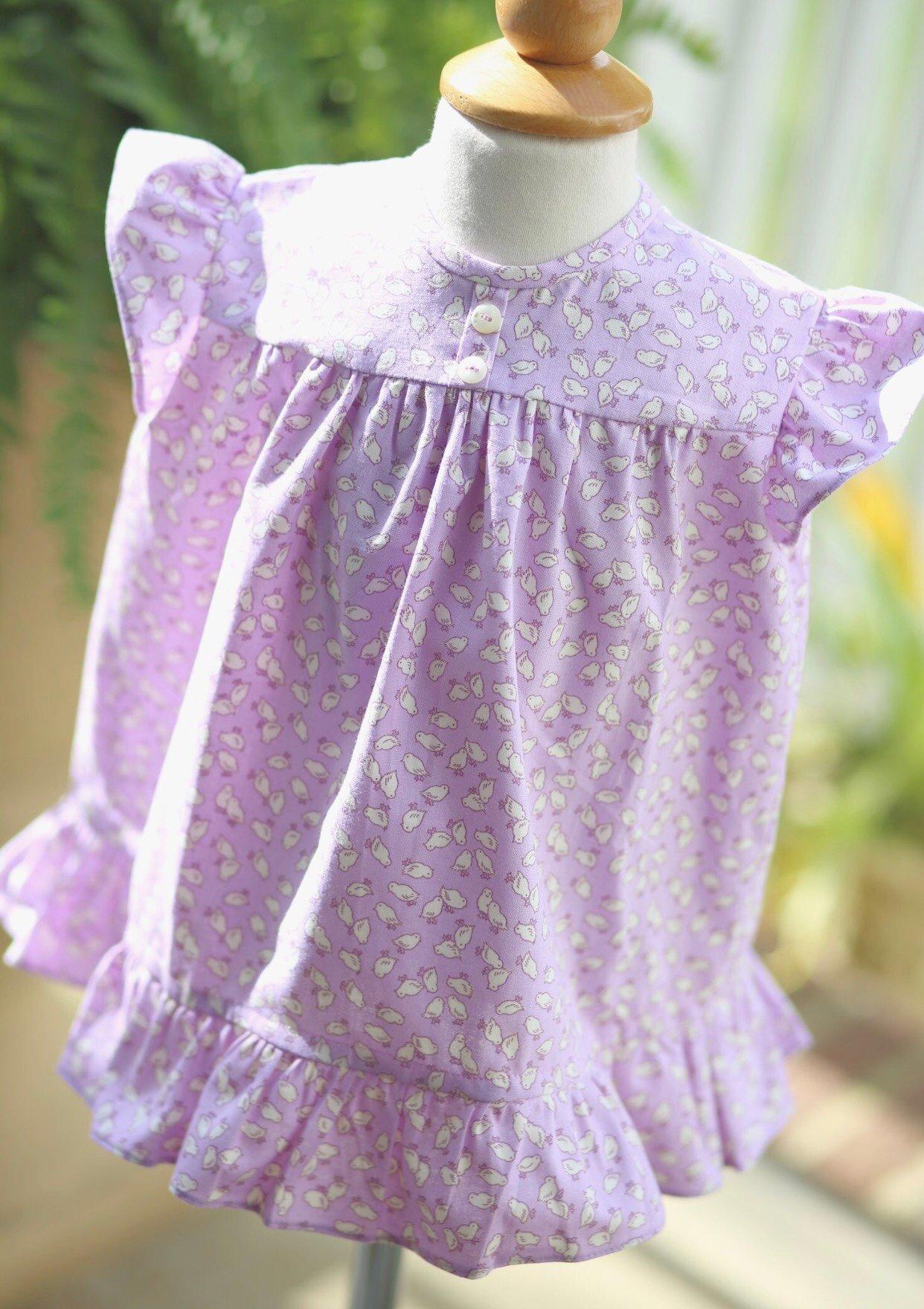 Image of 2T Nana Mae Chick Print Dress