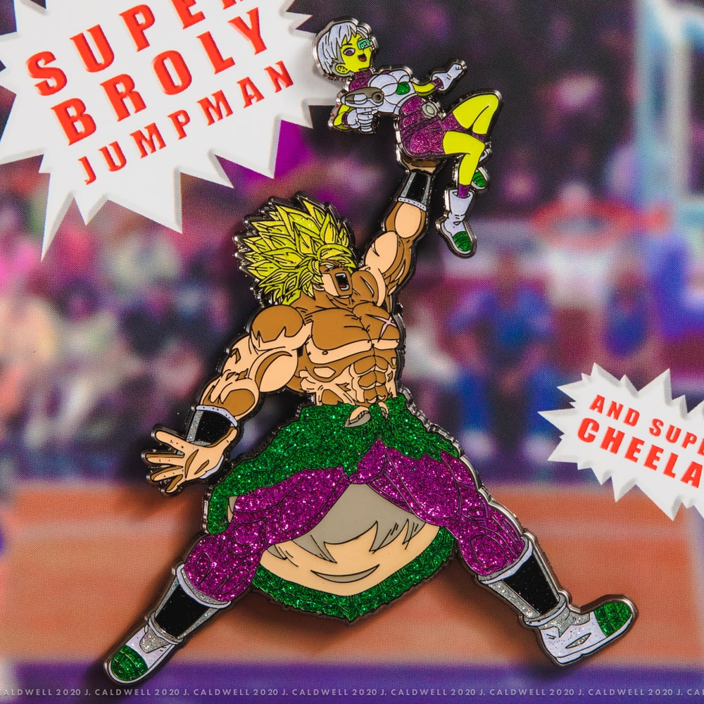 Image of Super Broly Jumpman + Cheelai (Set) | Enamel Pins