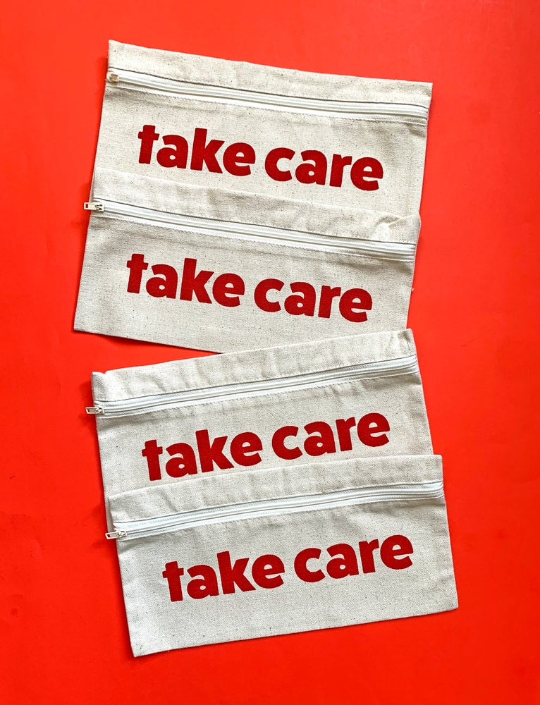 Image of take care - pouch