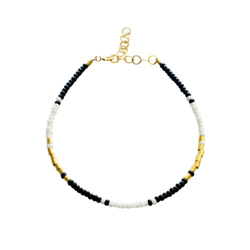 Image of Beaded Gold Filled Bracelet
