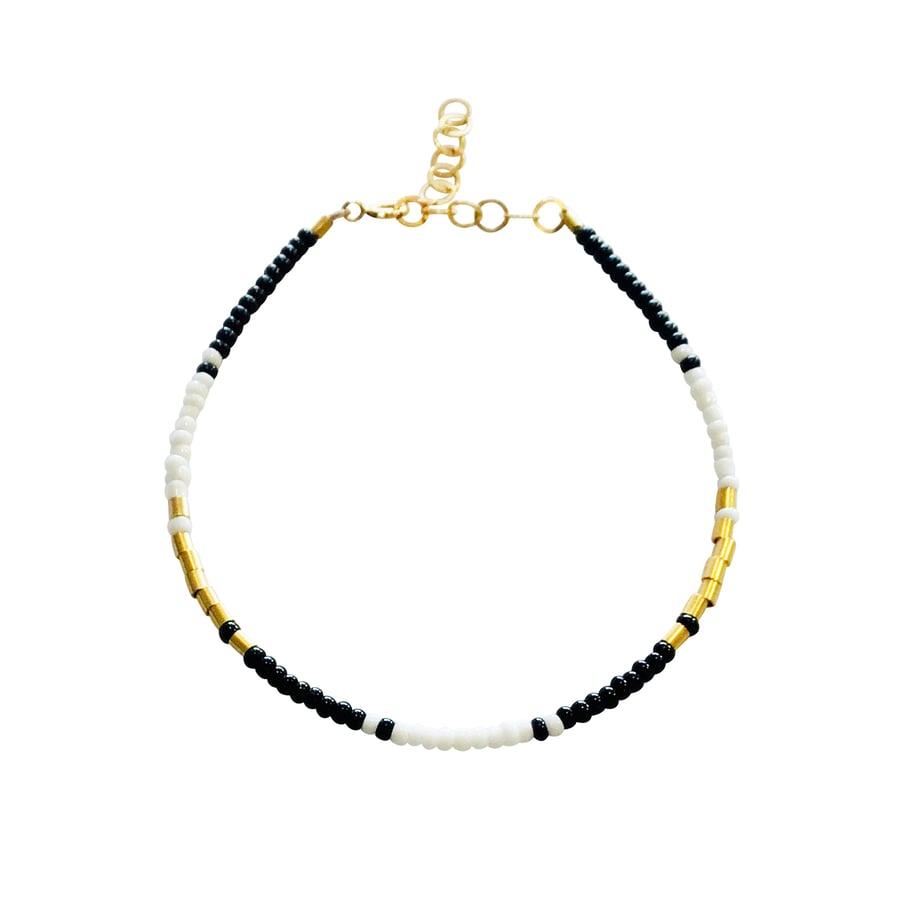 Image of Beaded Gold Filled Bracelet