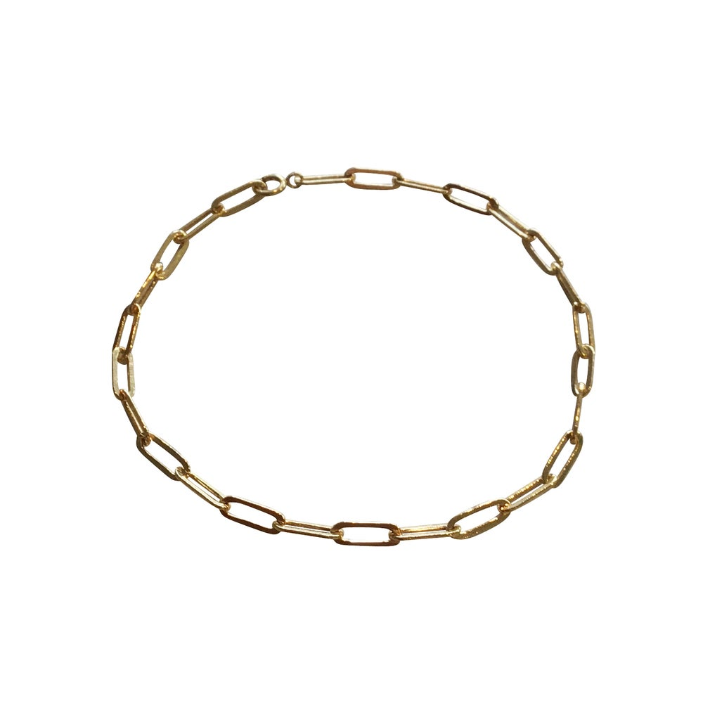 Image of Gold Filled Paper Clip Bracelet