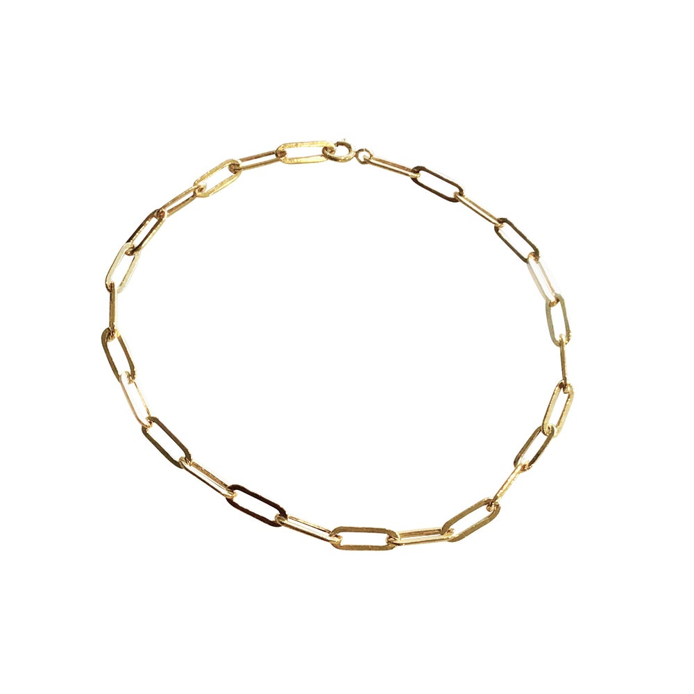Image of Gold Filled Paper Clip Bracelet