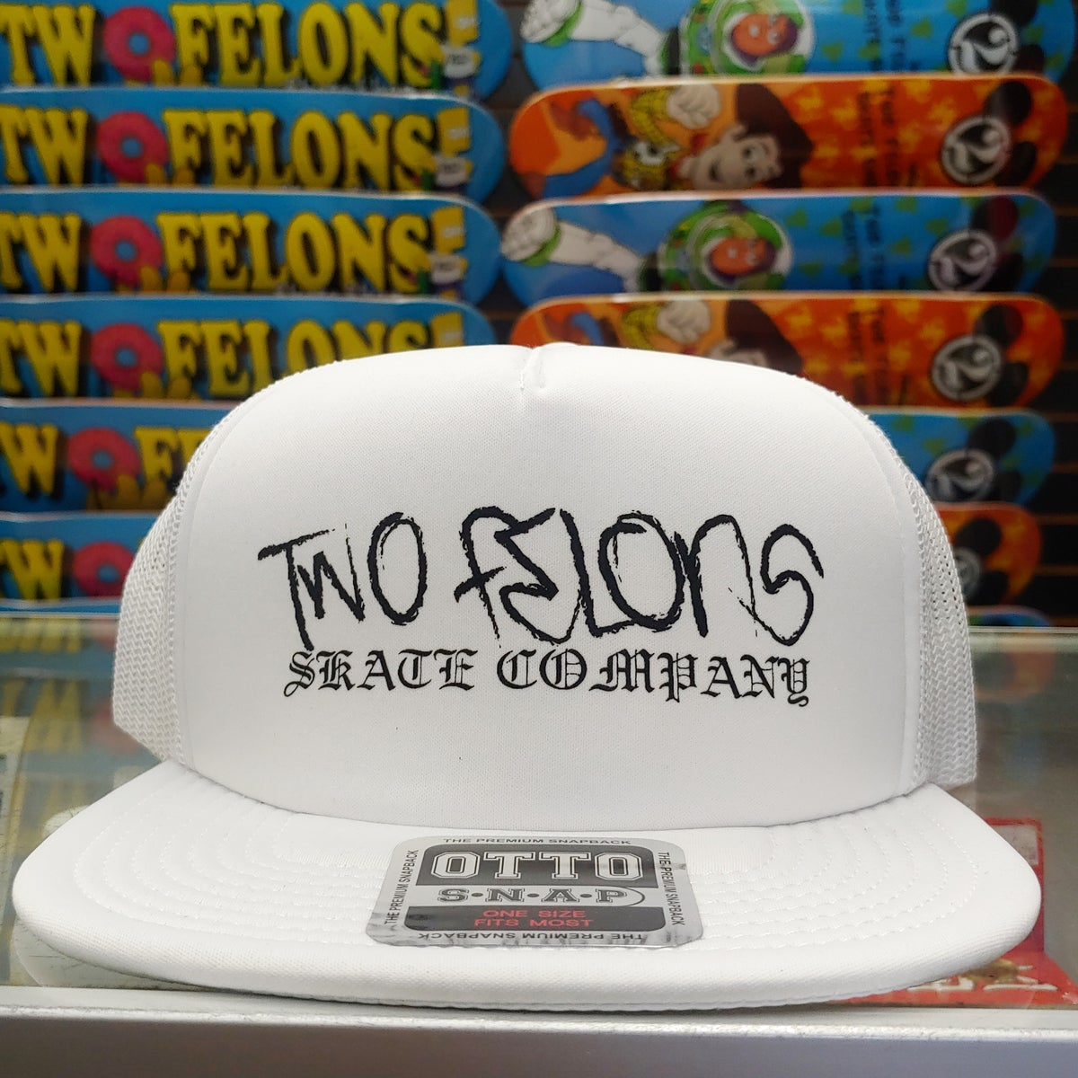 "Two Felons ""Thug"" soft trucker (WHT)"