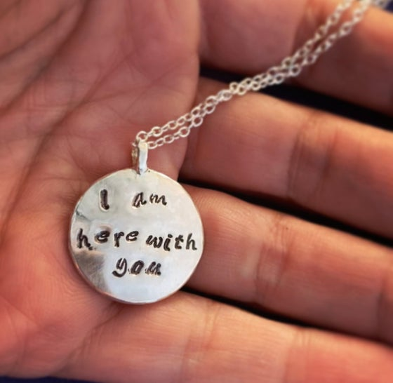 Image of Add custom engraving on the moon necklace