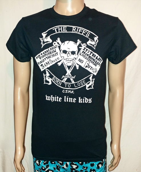 Image of The Riffs White Line Kids black tshirt