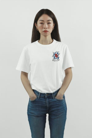"Image of ""Hot Sun, Bright Snow"" Embroidery Tee"
