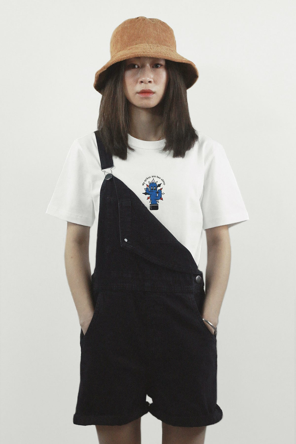 """Graphic Embroidery Tee - """"My Spikes Are Too Shiny"""" Embroidery Tee"""