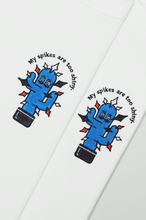 """Image of """"My Spikes Are Too Shiny"""" Embroidery Tee"""
