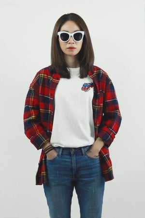 """Image of """"Roller Coaster"""" Embroidery Tee"""