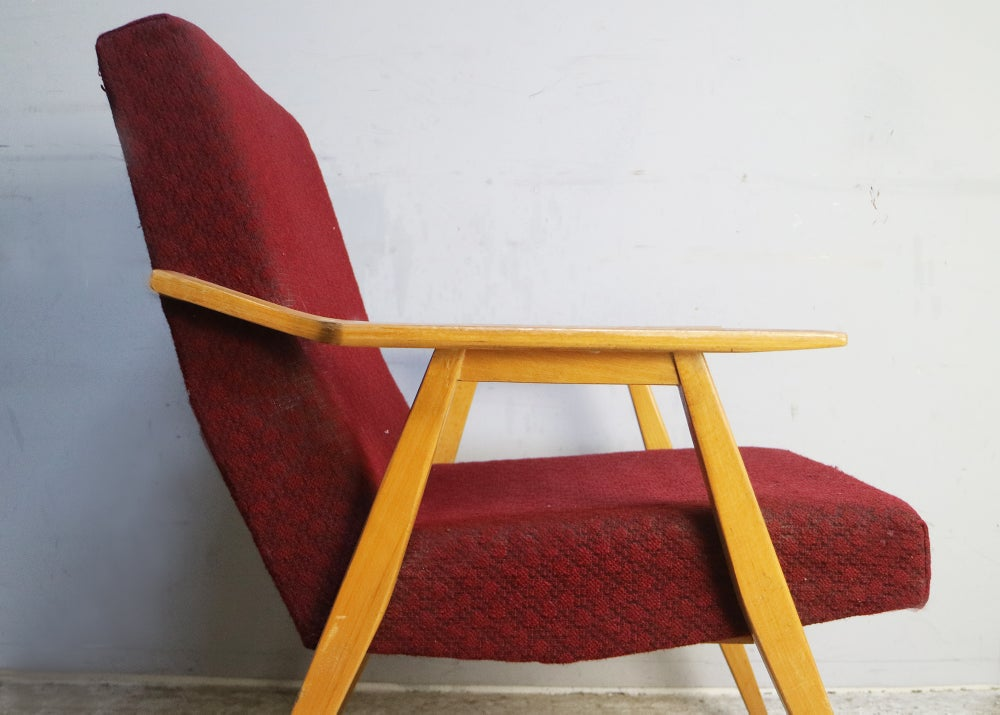 Image of 1960's Czech mid century armchair (2 available)