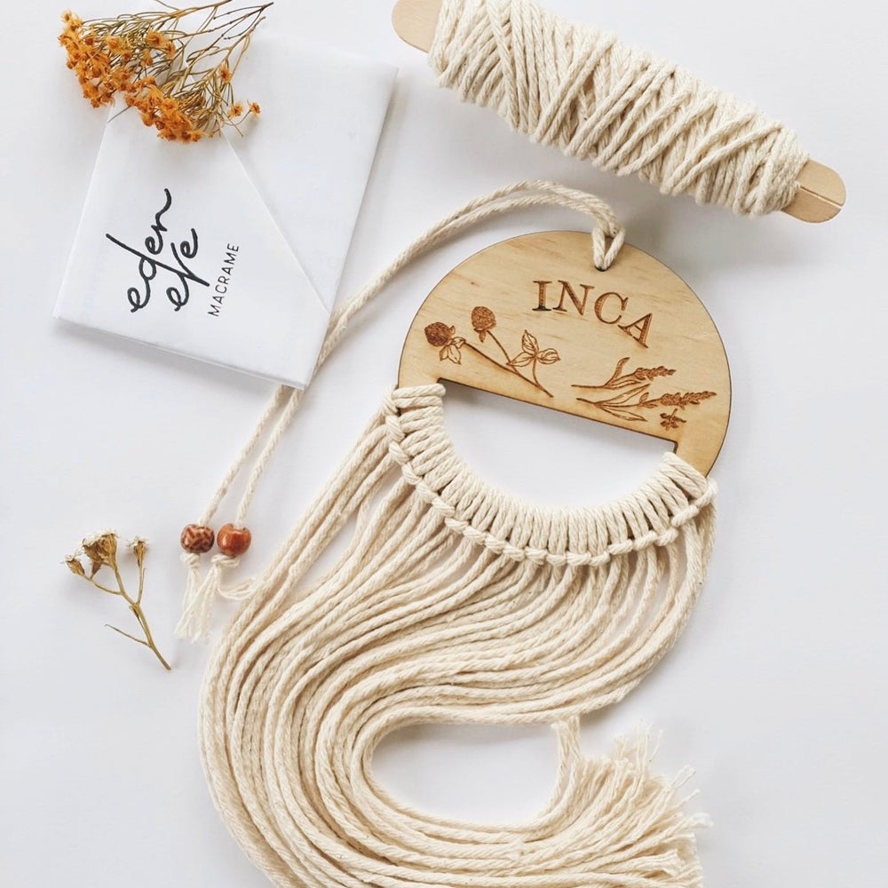 Image of Custom Name Kids Macrame Hanger Kit