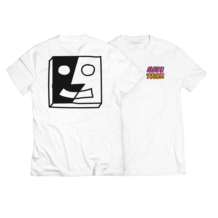 Image of SPLIT FACE WHITE Tee