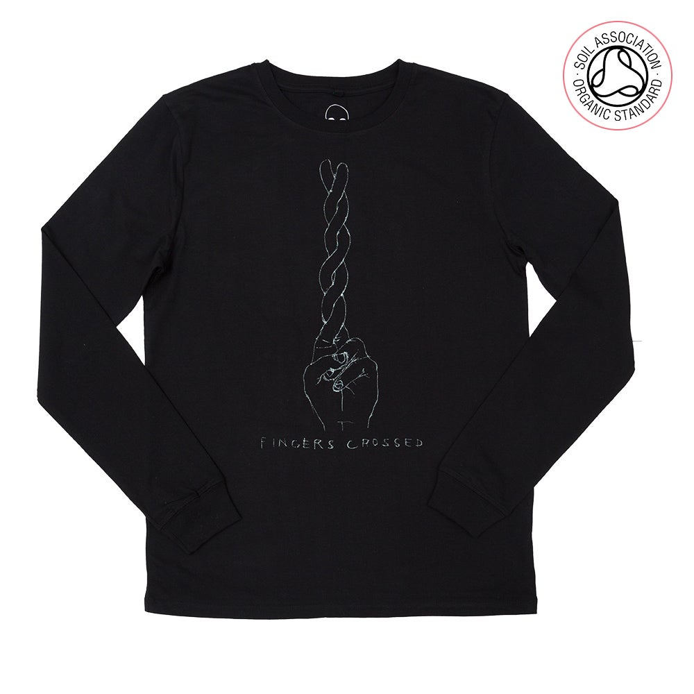 Fingers X Black Long Sleeve (Organic)