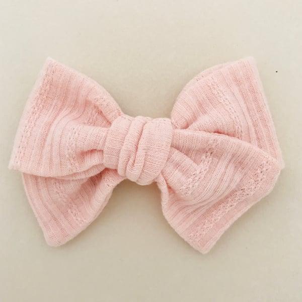 Image of Barrette coton ajouré rose