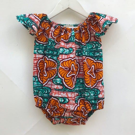 Image of Skipper romper in Tangerine