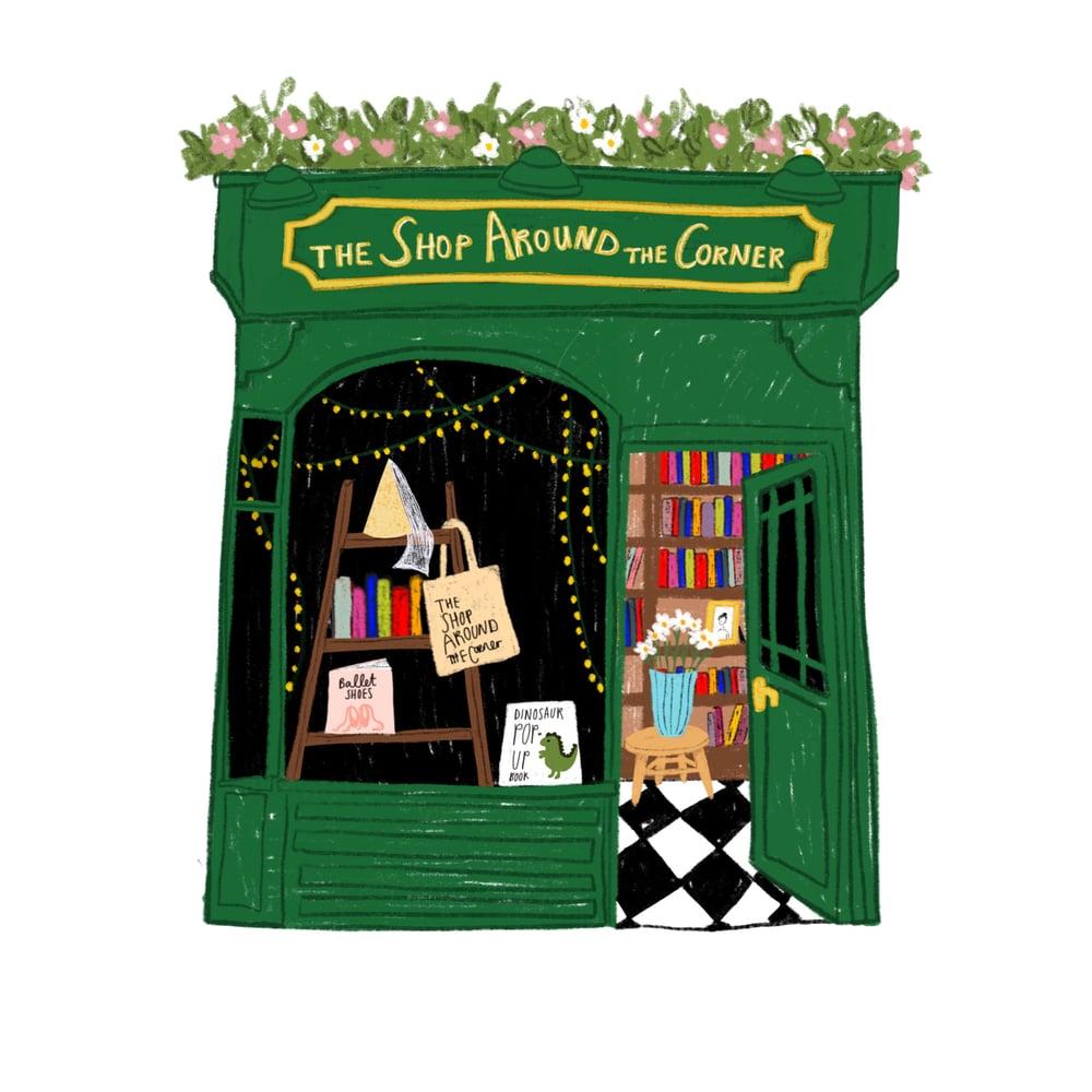 Image of You've Got Mail Shop Around The Corner Mini Print