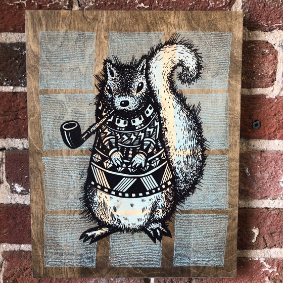 Image of Pretentious Squirrel on Birch