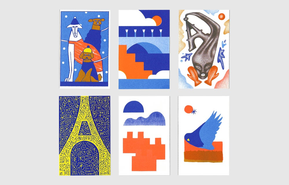 "Image of 6 CARTES POSTALES . ""PARIS-HIVER"" ."