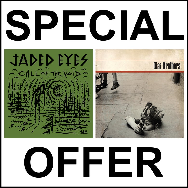 Image of SPECIAL MAILORDER ONLY OFFER; JADED EYES AND DIAZ BROTHERS NEW LP DOUBLE PACKAGE !