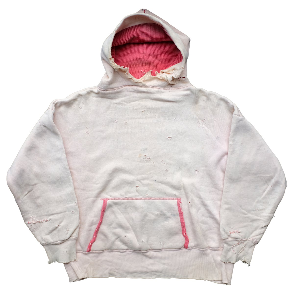 Image of Vintage 50's Double Face White Two Tone Hoodie