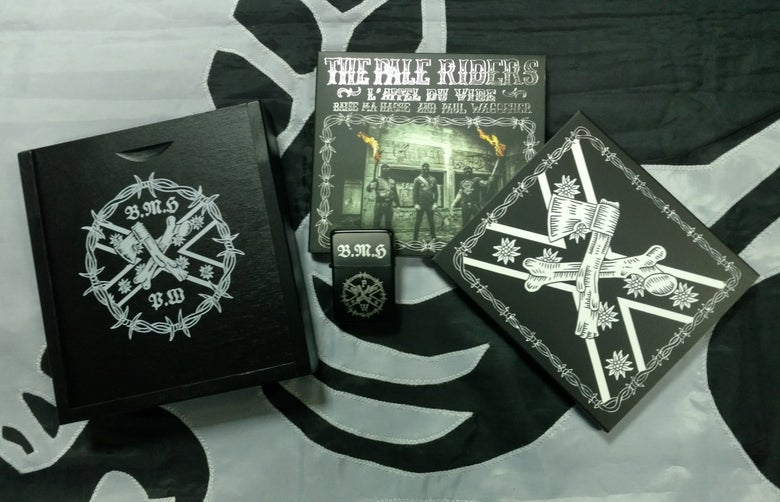 Image of B.M.H & P.W: THE PALE RIDERS - digipack CD - WOODEN BOX