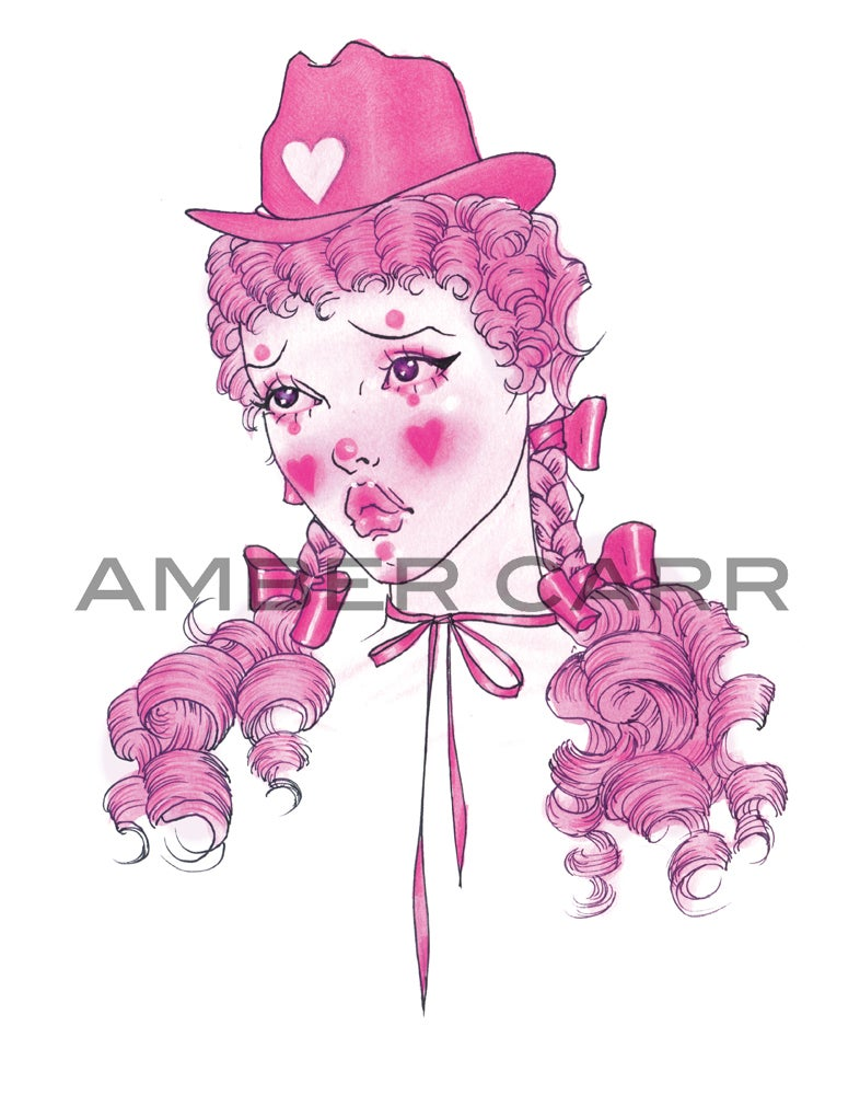 """Image of Cowgirl Clown 11"""" x 14"""" Print"""