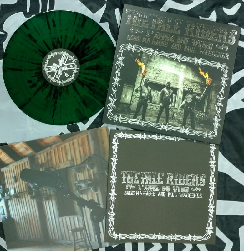 "Image of B.M.H & P.W: THE PALE RIDERS - 12"" LP - GREEN SPLATTER VINYL"