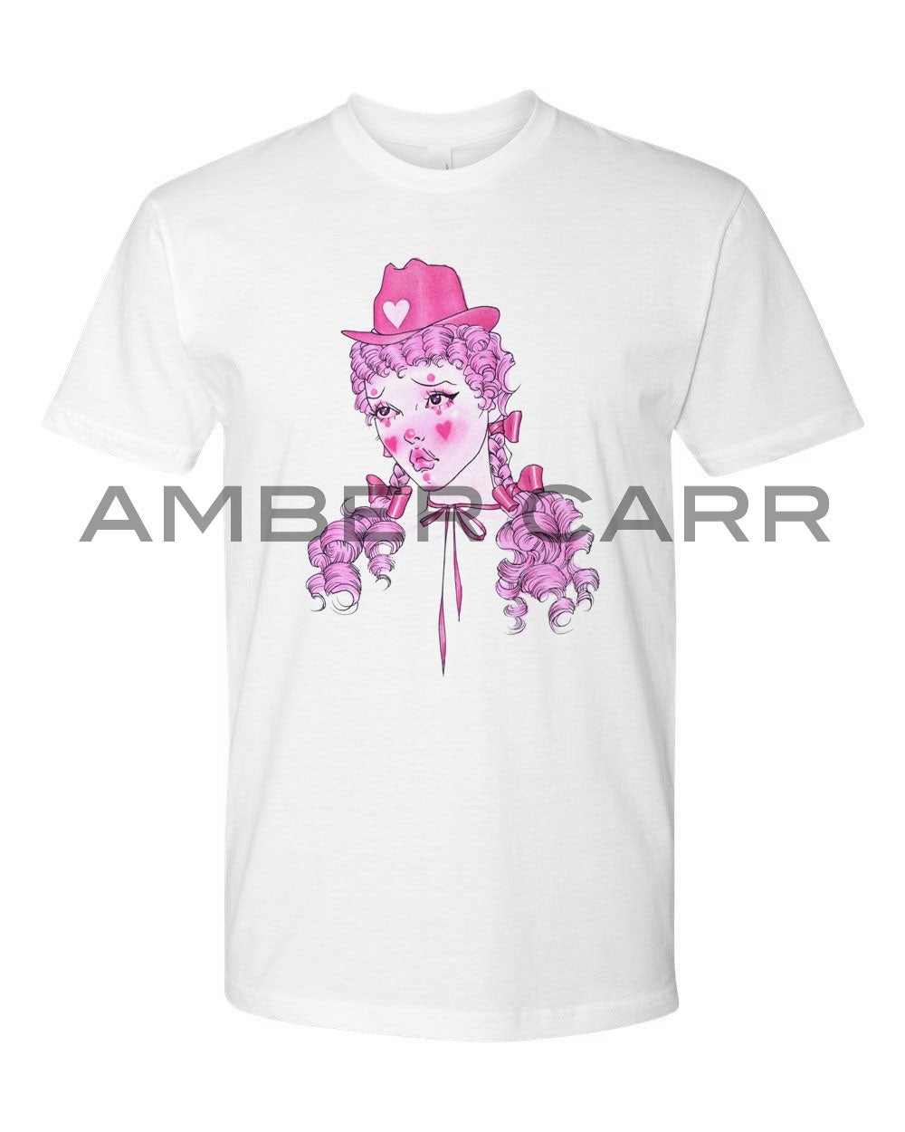 Image of Cowgirl Clown T-shirt - Unisex - 100% cotton