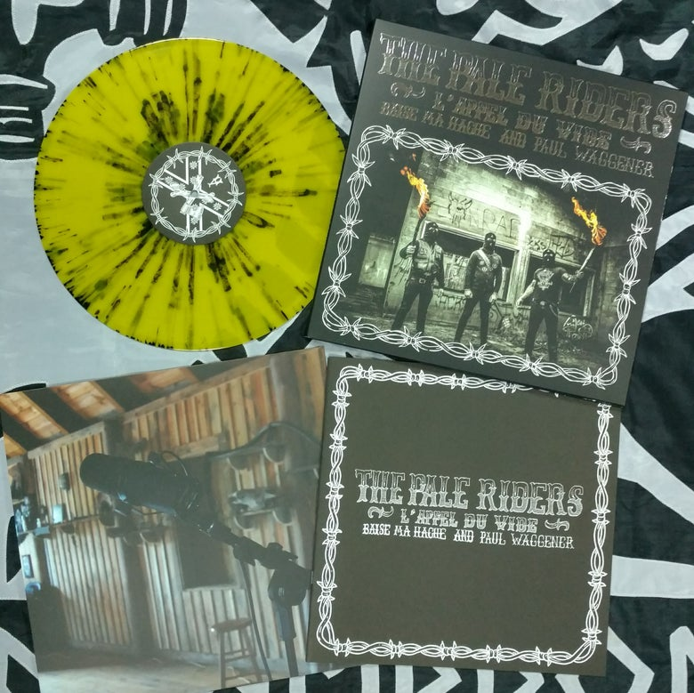 "Image of B.M.H & P.W: THE PALE RIDERS - 12"" LP - YELLOW SPLATTER VINYL"