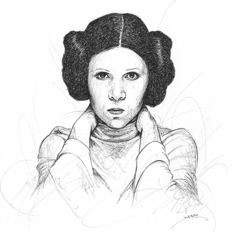 Image of Carrie Fisher Doodle