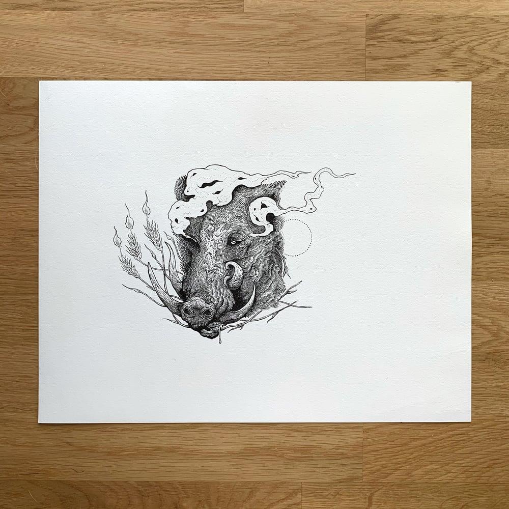 Image of Glücksschwein - Original Art