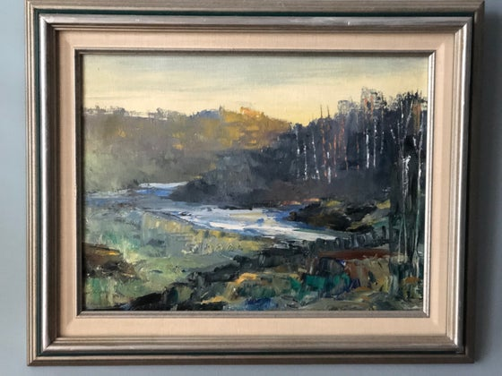 Image of Framed Landscape Painting