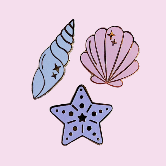 Image of Pastel Seashells Set
